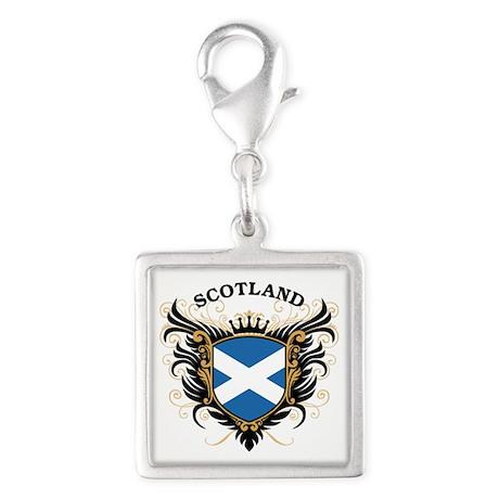 Scotland Silver Square Charm