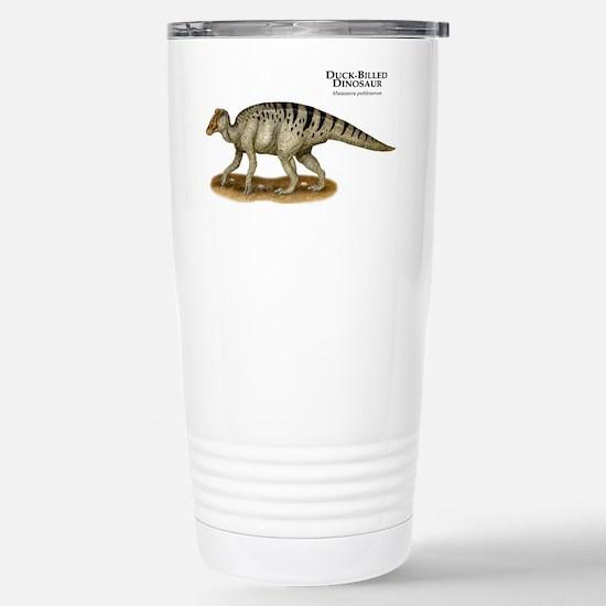 Duck-Billed Dinosaur Stainless Steel Travel Mug