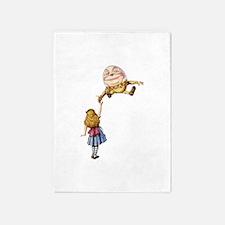 Alice Meets Humpty Dumpty in Wonderland 5'x7'Area
