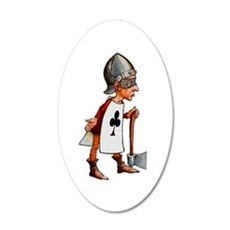 The Queen's Executioner 20x12 Oval Wall Decal