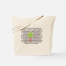 pharmacist story art 1 fem background.PNG Tote Bag