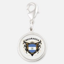 Nicaragua Silver Round Charm