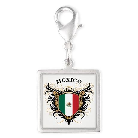 Mexico Silver Square Charm