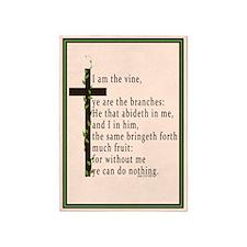 John 15 5 King James Bible 5'x7'Area Rug