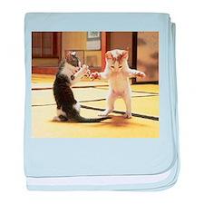 Kung Fu Kittens baby blanket