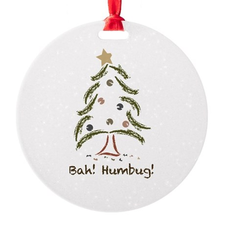 Bah! Humbug! Tree Round Ornament