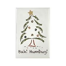 Bah! Humbug! Tree Rectangle Magnet