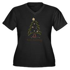 Bah! Humbug! Tree Women's Plus Size V-Neck Dark T-