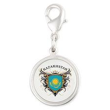 Kazakhstan Silver Round Charm