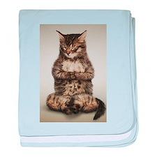 Zen Kitty baby blanket