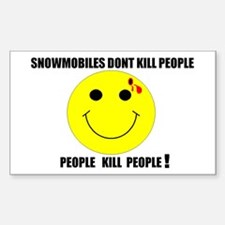 People Kill People Rectangle Decal