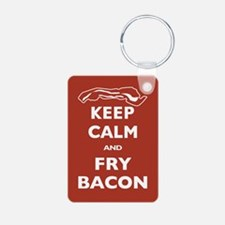 Keep Calm and Fry Bacon Keychains