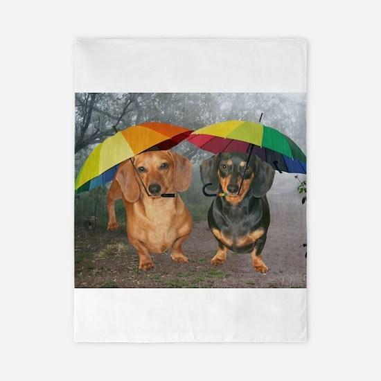 rain umbrella dogs12x16 copy.jpg Twin Duvet