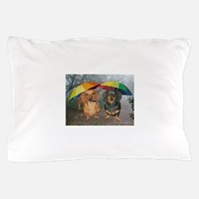 rain umbrella dogs12x16 copy.jpg Pillow Case