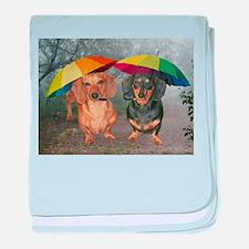 rain umbrella dogs12x16 copy.jpg baby blanket