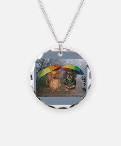 rain umbrella dogs12x16 copy.jpg Necklace