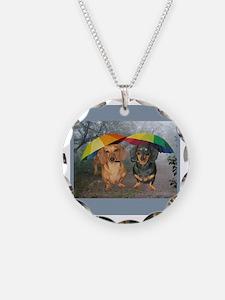 rain umbrella dogs12x16 copy.jpg Necklace Circle C