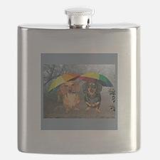 rain umbrella dogs12x16 copy.jpg Flask