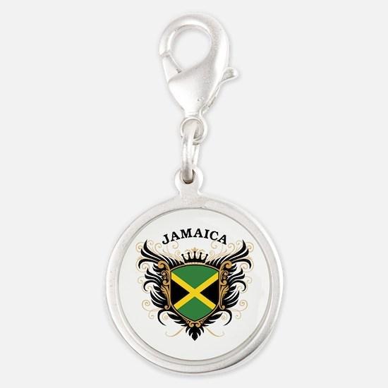 Jamaica Silver Round Charm