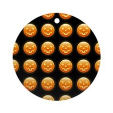 Halloween Faces Ornament (Round)