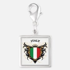 Italy Silver Square Charm