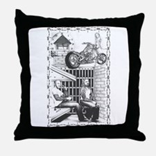 Waiting by the gate...Throw Pillow