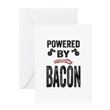 Powered by Bacon Greeting Card