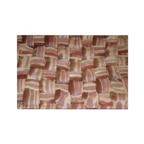 Bacon Weave Rectangle Magnet