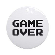GAME OVER Ornament (Round)