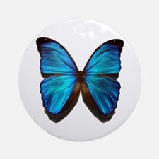 blue butterfly two Ornament (Round)
