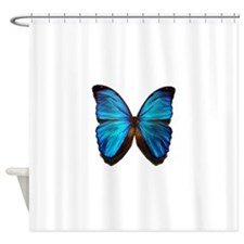 blue butterfly two Shower Curtain