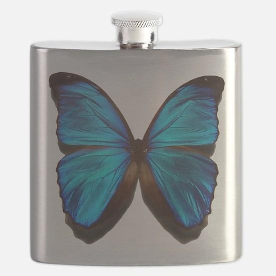blue butterfly two Flask