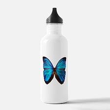 blue butterfly two Sports Water Bottle