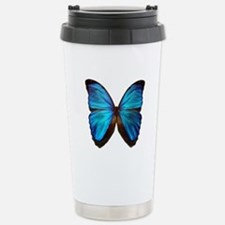 blue butterfly two Stainless Steel Travel Mug