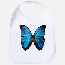 blue butterfly two Bib