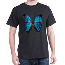 blue butterfly two T-Shirt