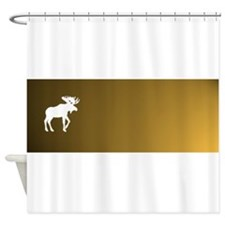 BigMooseGlow1.png Shower Curtain
