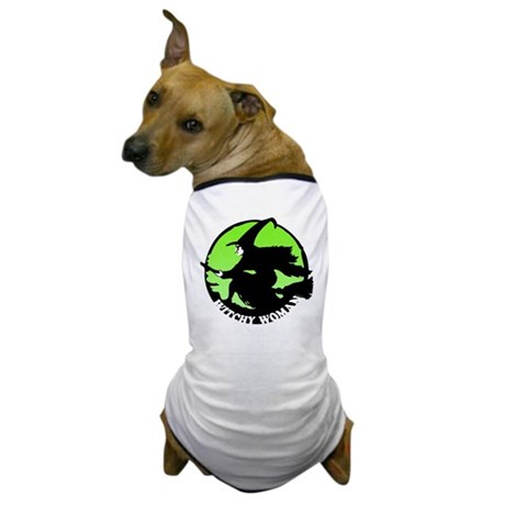 Witchy Woman (Green) Dog T-Shirt
