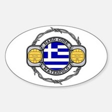 Greece Water Polo Oval Decal