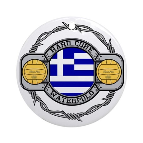 Greece Water Polo Ornament (Round)