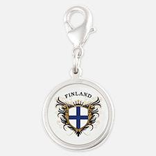 Finland Silver Round Charm