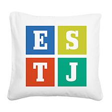 estj.png Square Canvas Pillow