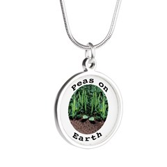 Peas On Earth Silver Round Necklace