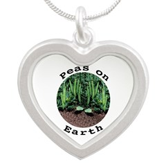 Peas On Earth Silver Heart Necklace