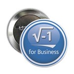"""Square root 2.25"""" Button (10 pack)"""