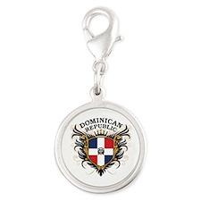 Dominican Republic Silver Round Charm