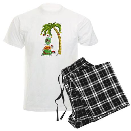 Hawaiian Christmas Turtles Men's Light Pajamas