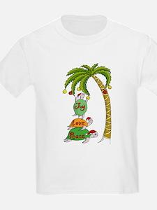 Hawaiian Christmas Turtles T-Shirt