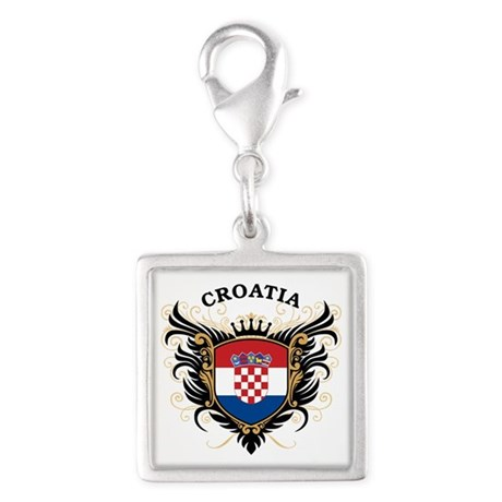 Croatia Silver Square Charm