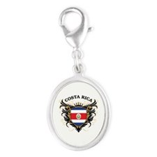 Costa Rica Silver Oval Charm